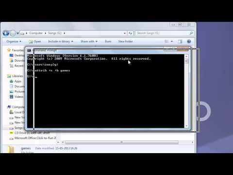 How to hide folders in Windows/XP/7 using command prompt - HD