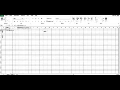 How to program punette squares in excel