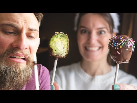 BRUSSEL SPROUT CAKE POP PRANK!