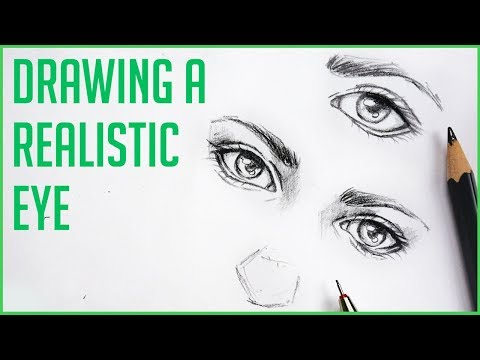 How to Draw Realistic Eyes 【Easy Art Drawing Tutorial for Beginners!】