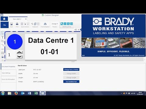 Brady Workstation - Import Excel Data for Cable Label Printing