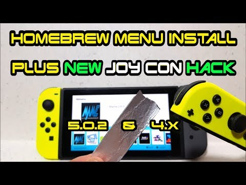 How to install HomeBrew Menu on Nintendo Switch with 5.0.2 or 4.X firmware RCM