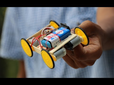 How to Make Remote Control Car at Home in Easiest Way - DIY Wireless RC CAR