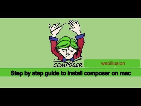 Step by step guide to install composer on mac