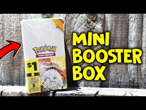 MINI BOOSTER BOX OF POKEMON CARDS! SUN & MOON FROM DOLLAR GENERAL!