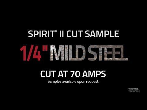 "Spirit® II Plasma Cut Sample, 1/4"" Mild Steel Cut at 70 AMPS"