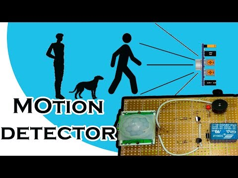 How to make Motion detector security system with PIR module | alarm + lights on
