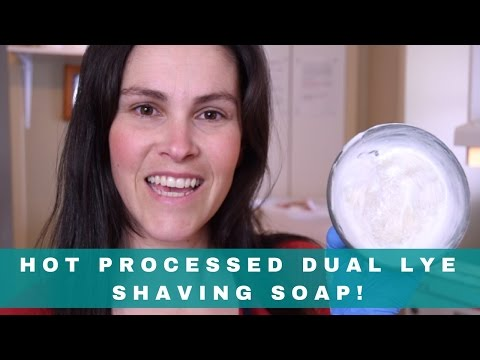 Making Hot Processed Dual Lye Shaving Soap