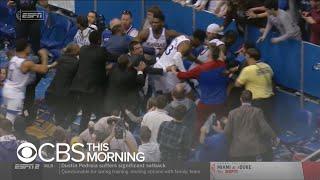 Brawl erupts at Kansas-Kansas State basketball game
