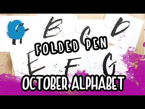 Winterbird's October Alphabet with DIY Folded Pen