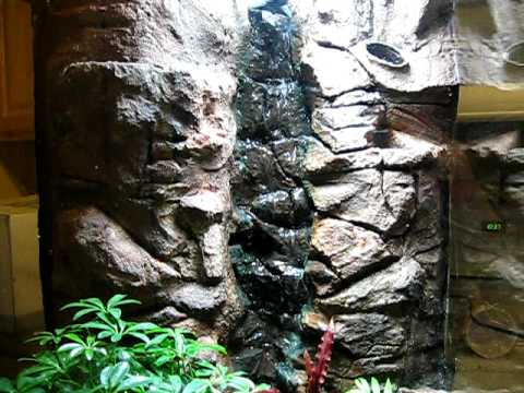 My fake / phony/ faux rock waterfall build for my dart frog vivarium  PART 2