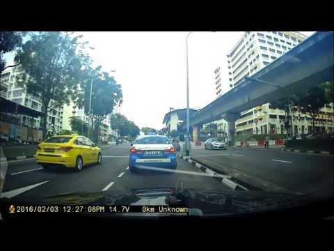 car beating red light