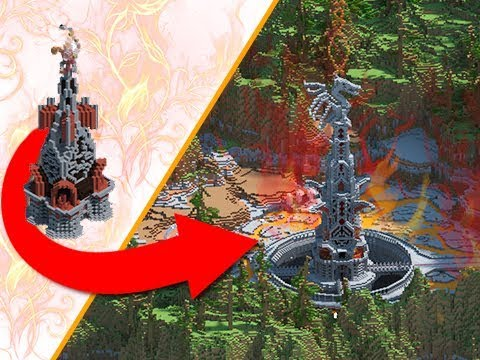 Minecraft - EPIC Fire Dragon Tower Transformation!