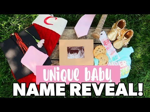 UNIQUE BABY NAME REVEAL 2018