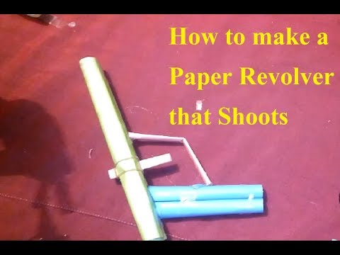 How to make a Paper Revolver that Shoots Paper Bullet Paper Gun Very Easy