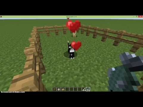How to tame ocelots/cats and wolves/dogs and breed them