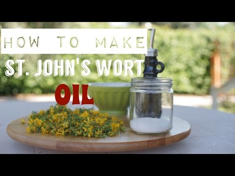 St. Johns Wort Infused Oil - Hypericum Perforatum - Infused Olive Oil Recipe