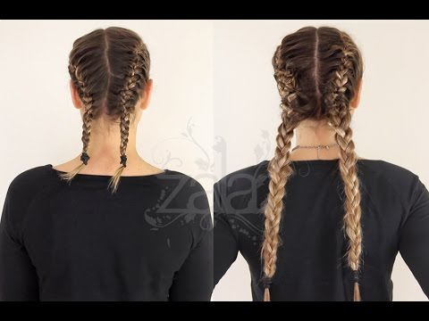 How to: Double French Braids Using Hair Extensions | ZALA HAIR