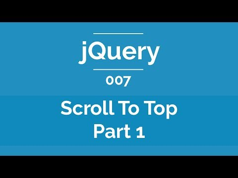 Arabic jQuery Practical Course #007 - Scroll To Top Button Part 1
