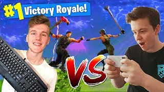 Mobile Player Vs. PC In Fortnite Battle Royale!