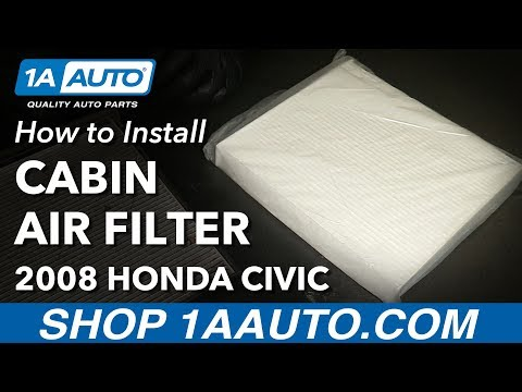 How to Install Replace Cabin Air Filter 2006-15 Honda Civic