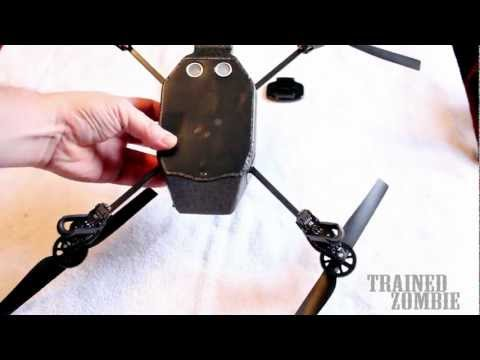 Mounting GoPro Hero3 on AR Drone by Parrot How To HACK MOD Modification