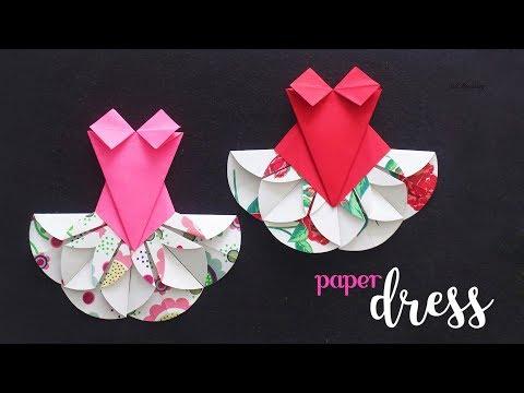 DIY Paper Dress | Paper Craft Ideas | Kids Crafts