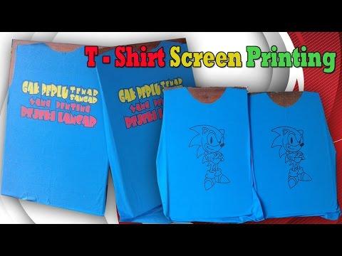 T - shirt Screen Printing Process Manually
