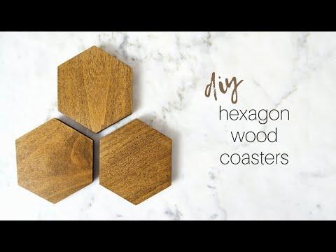 DIY Hexagon Coasters | Wood Coasters