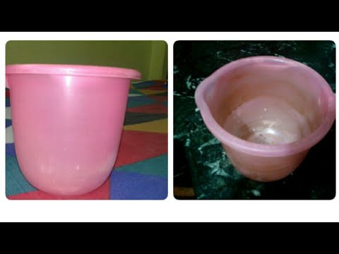 Bathroom Mug or Bucket Cleaning / Easy Technique for Cleaning Bucket / Clean plastic Mug at Home