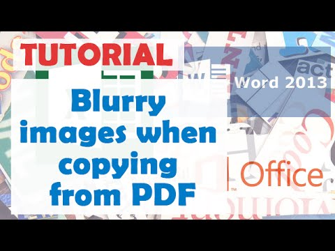 How to Fix Blurry Images When Copying From Pdf Document