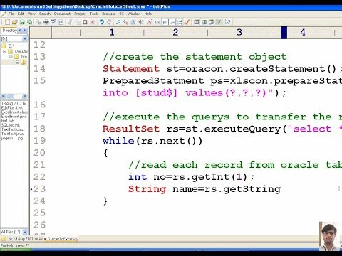38 Advanced java tutorial | Transfer data from Oracle Database table to MS-Excel Sheet | adv java
