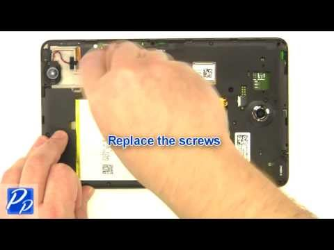 Dell Venue 8 (3830) Android 4.2 Tablet Battery Replacement Video Tutorial Teardown