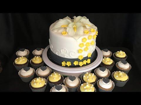 Pastel con alcatraces muy hermoso . Para boda o cumpleaños