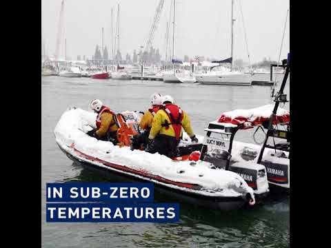 'Snow' stopping the RNLI