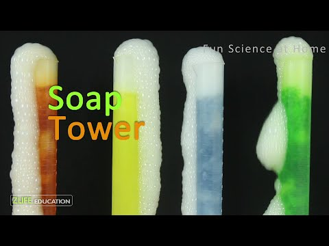 Dry Ice Soap Tower Bubbles - Science Experiment for Kids at Home