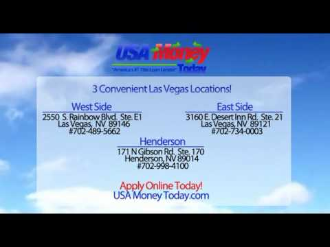 USAMoneyToday.com Las Vegas Nevada Auto Car Title Loans No Credit Check!