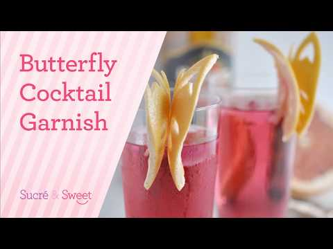 How To Make a Very Easy Butterfly Cocktail Garnish (2017)