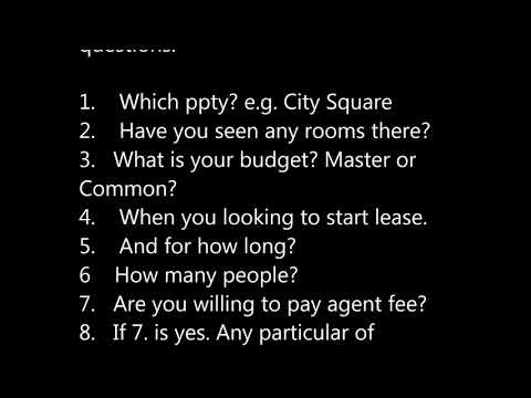 Answer Room questions2