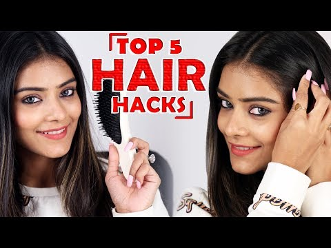 Top 5 Hair Hacks | Easy Hair Hacks For Girls | Hair Hacks Tutorial | Foxy Makeup Tutorials
