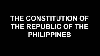 PHILIPPINE CONSTITUTION: Article XIV Education, Science and Technology, Arts Culture and Sports