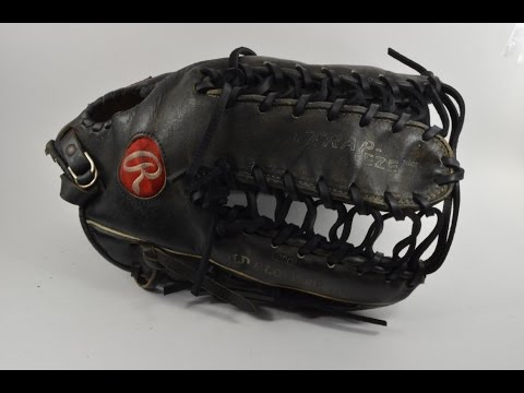 Rawlings Heart of the Hide Trapeze Baseball Glove Relace - Before and After Glove Repair