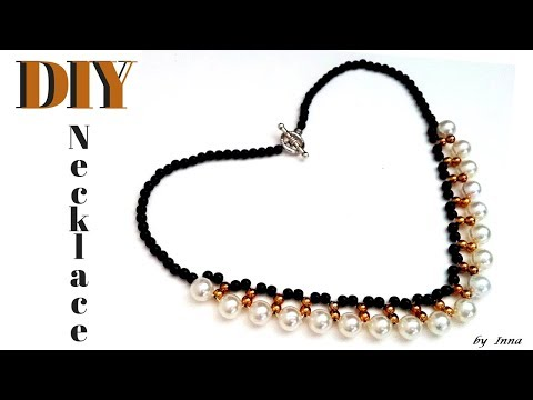How to make a beaded necklace in less than 10 min. Tutorial for beginners