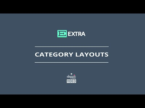 Extra Category Layouts