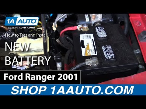 How to Test Battery Voltage and Replace Install New Battery 2001 Ford Ranger BUY PARTS AT 1AAUTO.COM