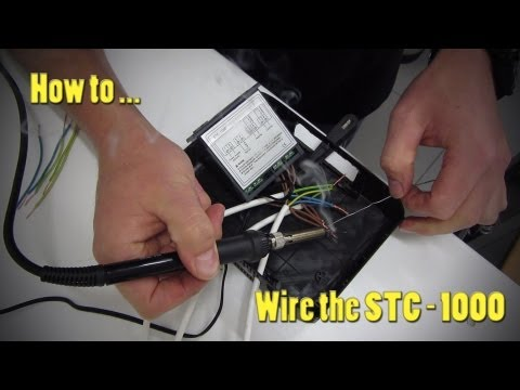 How to wire the STC 1000 temperature controller