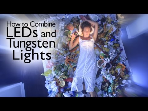 How to Combine LEDs and Tungsten Lights - Photography Tutorial