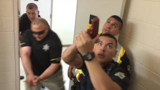Follow police as they conduct an active shooter drill in the Saginaw County Governmental Center