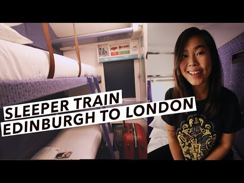 My First Overnight Train From London to Scotland | Caledonian Sleeper | Edinburgh Travel Vlog