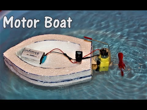 How to make an Electric Motor Boat - EASY